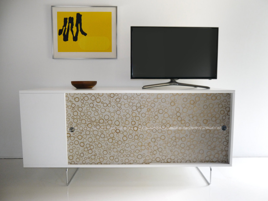 Alto Credenza shown with Bamboo rings panels.