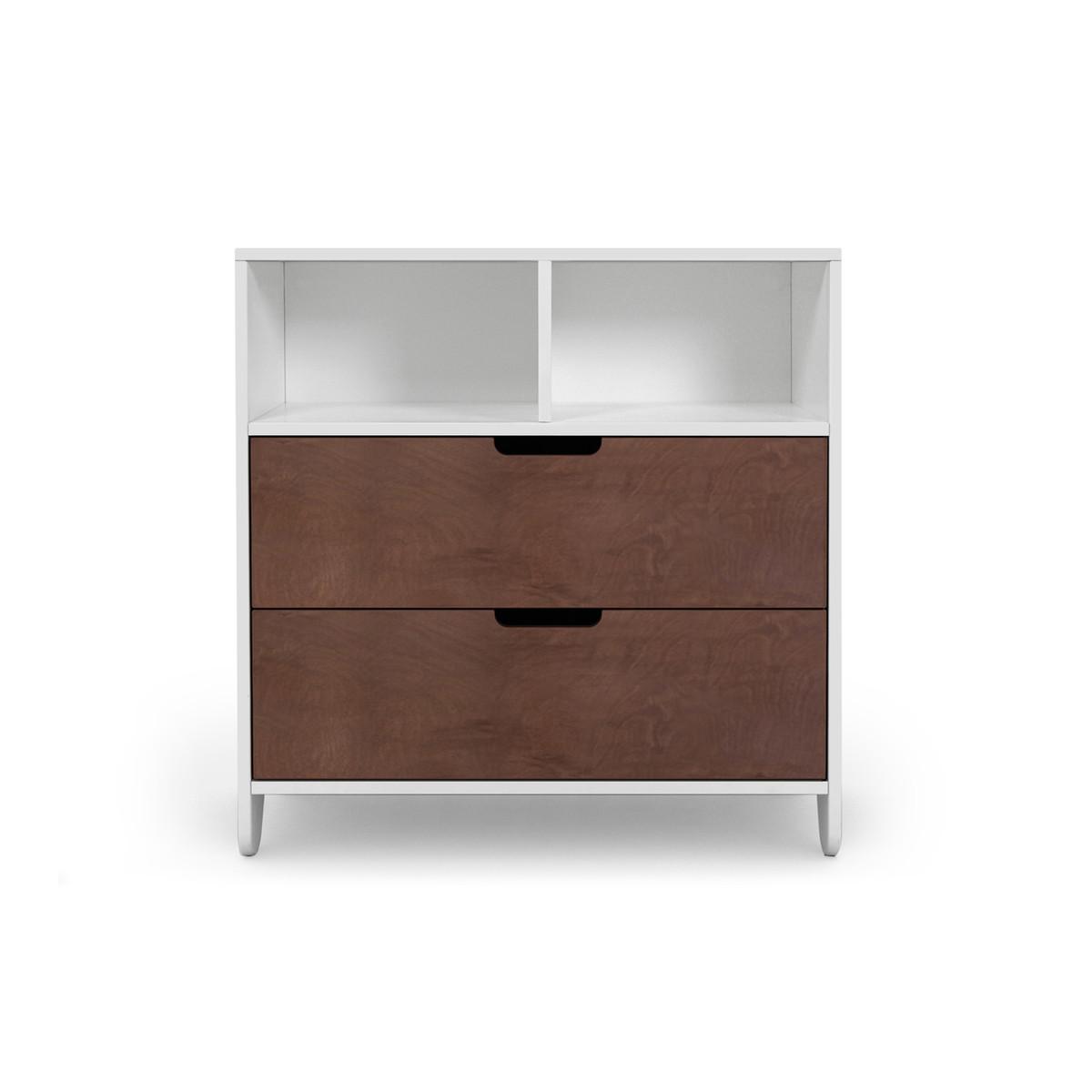 Hiya Dresser with walnut stained drawers