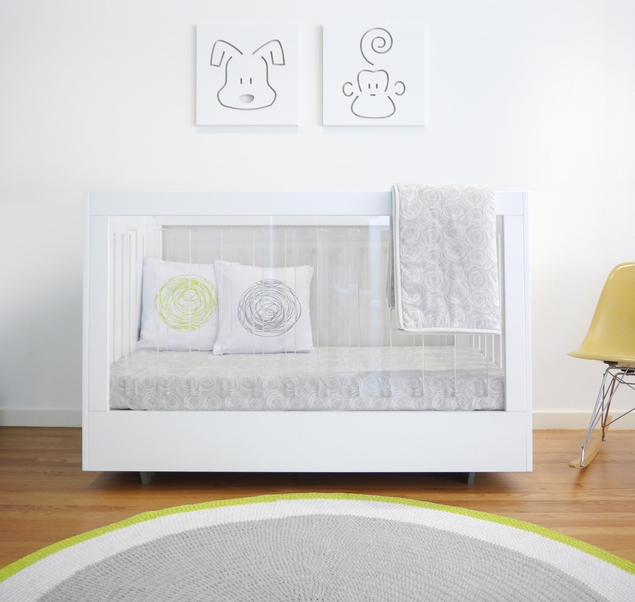 Roh Crib - Two Sided Acrylic and White - Spot On Square - Double click image for full Zoom