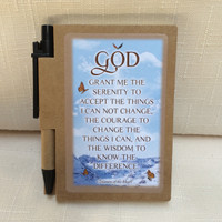Recovery Line - Serenity Prayer - Brown Text - Journal
