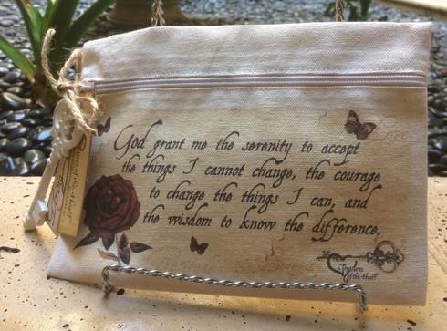 Vintage Rose Line - Serenity Prayer - Canvas Bag