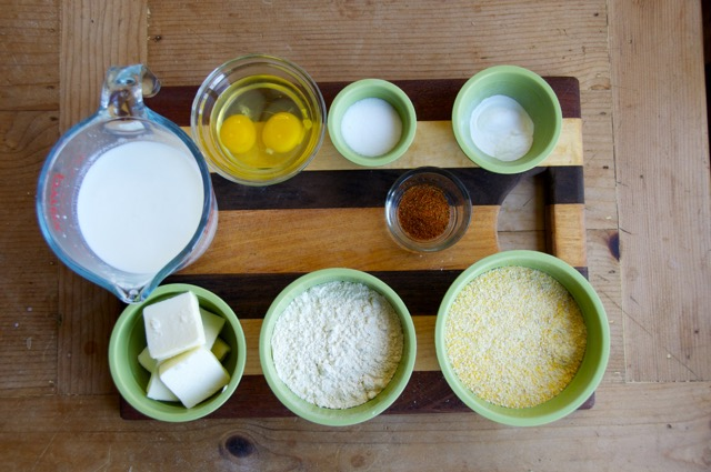 ingredients for smokin chipotle cornbread