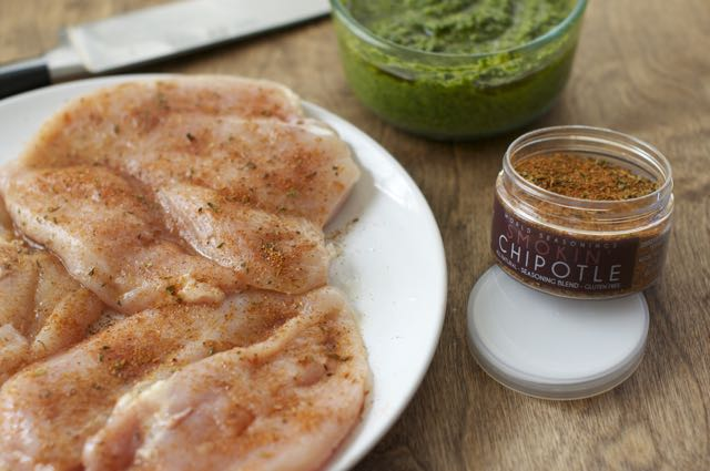 butterflied chicken breast with chipotle seasonings