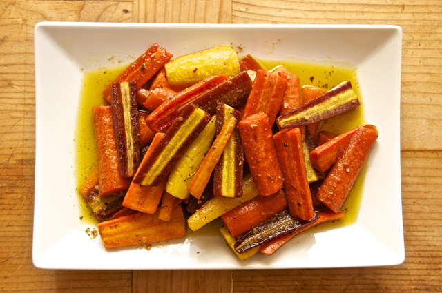 how to make roasted rainbow carrots
