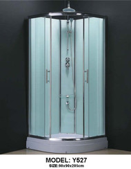 Complete Shower Cubicle  Curved 90x90