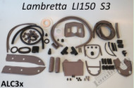 Lambretta Body Rubber Kit Casa LI 150 S3 - Grey S3 (B66-8013724L)