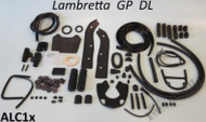 Lambretta Body Rubber Kit Casa - Black S3 GP (66-ALC1x/86048810)