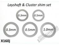 Lambretta Gear Layshaft Shim Kit 5 Speed RLC (E84-CPX160J)