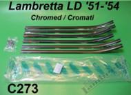 Lambretta Floorboard Chrome Strip Set Front Casa LD125 (LDF-C273)