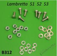 Lambretta Seat Saddle Hardware Kit S1/2/3 Casa (167-B312x)