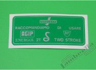 Lambretta Fuel Decal Green Door Flap Casa (158-C222)
