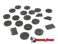 Lambretta Body Anti Vibration Rubber Kit Casa - Black (72-8013410)