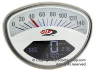 Vespa SIP Rev Counter/Speedometer - Rally/Super White