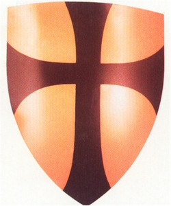 Crusader Shield (Brown Cross)