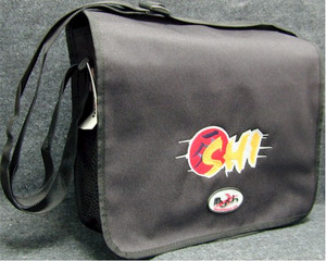Shi Text Logo Courier Bag