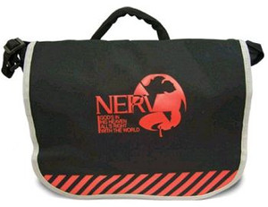 Evangelion Messenger Bag - Nerv Logo Movie (Black)