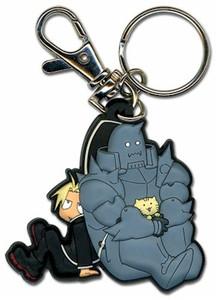 Fullmetal Alchemist Brotherhood Keychain - Ed and Al Sitting
