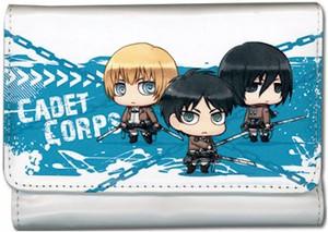 Attack on Titan Wallet - SD Armin, Eren & Mikasa Cadet Corp