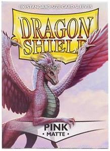 Dragon Shield Protective Sleeves 100 - Matte Pink