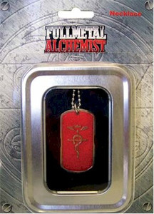 FullMetal Alchemist Necklace Red Dog Tag