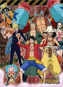One Piece Wallscroll - Strawhats Pirates Keep Out