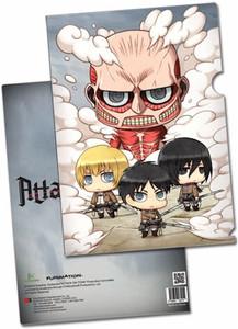 Attack on Titan File Folder - SD Colossal, Armin, Eren & Mik
