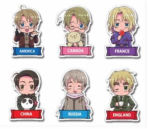 Hetalia Die-Cut Stickers