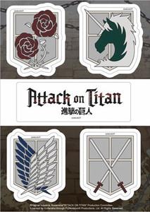 Attack On Titan Sticker Sheet - Emblems