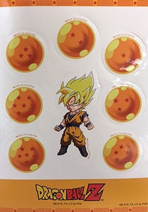 Dragon Ball Z Sticker Sheet - SS Goku & Dragon Balls