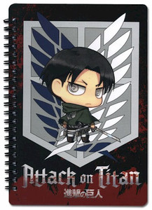 Attack on Titan Notebook - SD Levi Scout Regiment