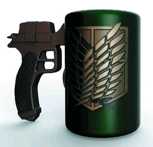 Attack On Titan Molded Mug - 3D Maneuvering Gear Handle