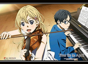 Your Lie in April Wallscroll - Playing Music