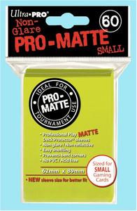 Ultra Pro Pro-Matte Sleeves Small - Bright Yellow (Matte)