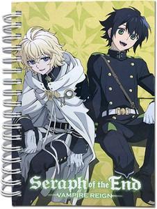 Seraph of the End HC Notebook - Yuichiro & Mikaela Sitting