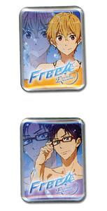 Free! 2 Pin Set - Nagisa & Rei
