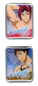 Free! 2 Pin Set - Rin & SousukeRei