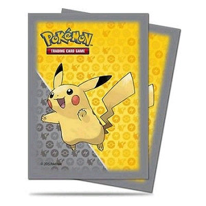 Pokemon Ultra Pro Pikachu Grey Card Sleeves 65 Count