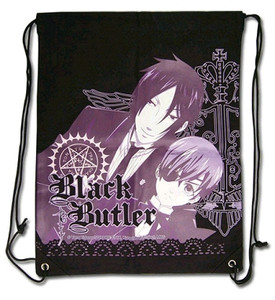 Black Butler Drawstring Bag - Sebastian & Ciel