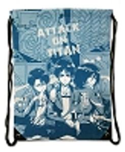 Attack on Titan Drawstring Bag - Group & Emblems