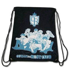 Ouran High School Drawstring Bag - Group Black