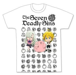 Seven Deadly Sins T-Shirt - SD Meliodas, Elizabeth & Hawk