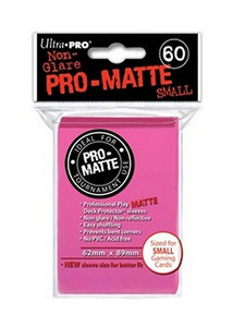 Ultra Pro Pro-Matte Sleeves Small - Bright Pink  (Matte)
