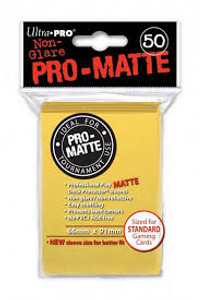 Ultra Pro Pro-Matte Sleeves Standard - Yellow (Matte)
