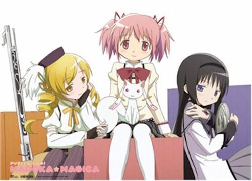 Madoka Magica Wallscroll - Three Girls