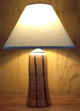 Lamp-Brown Stripe/Shino Glaze-Mem. Day Sale Special-FREE SHIPPING!-Harp is included but No Shade