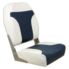 Fold Down Economy Coach HB Seat Off White & Blue