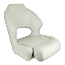 Deluxe Sport Flip Up / Lean To Seat Off White