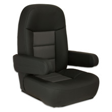 Mariner Pilot Helm Seat Black & Charcoal