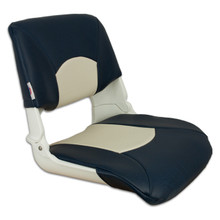 Skipper Fold Down Chair with Cushions Blue & Off White