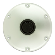 "Plug-In 9"" Diameter Anodized Floor Base 2-3/8"""